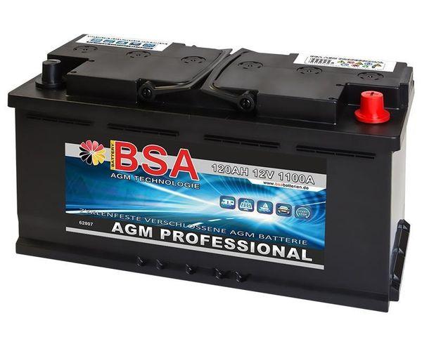 BSA AGM Solarbatterie 120Ah 12V