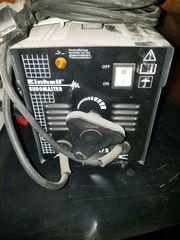 Elektroden Schweißgerät mit Schild und