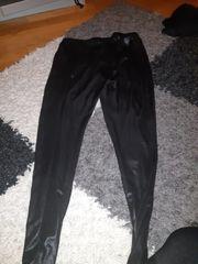 Leggings schwarz getragen