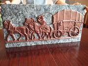 Marmorplatte mit Kutschermotiv zu verkaufen