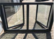 Fenster 2-flüglig anthrazit weiß 2x