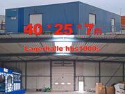Isolierte Lagerhalle 40x25x7m Stahlhalle aus