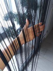 Fadenvorhang Fadenstore schwarz