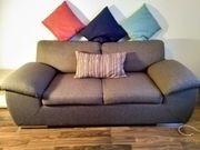 Sofa Couch 2-Sitzer - Braun mit