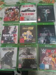 verkaufe 9 xbox one Spiele