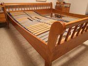 Bett Doppelbett Kirschholz 1 Lattenrost