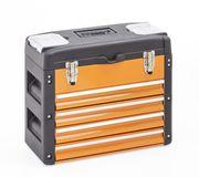 Werkzeugkasten 4 Schubladen orange NEU