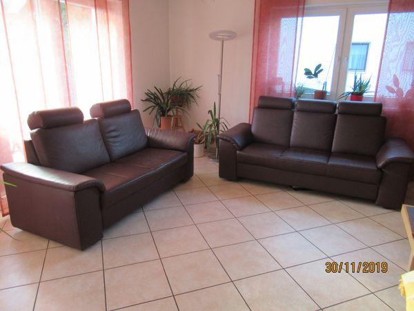 Couch-Garnitur bordeauxrot