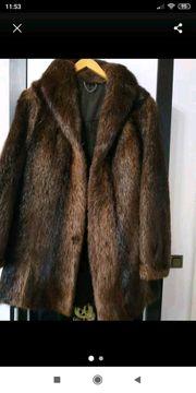 Damen Echtpelz Mantel