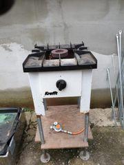 Krefft Senking Gasbrenner Gaskocher Großküche
