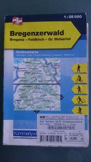 Landkarte BREGENZERWALD Outdoorkarte Wanderkarte