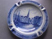 alter Delfter Porzellan Keramik Aschenbecher