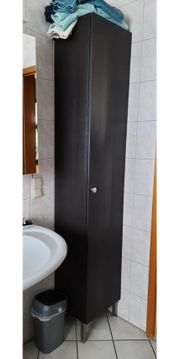 2 Badschränke dunkelbraun Schrank