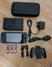 Nintendo Switch inkl 8 Spiele