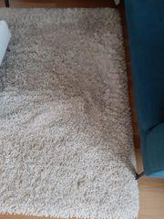 Teppich creme Hochflor