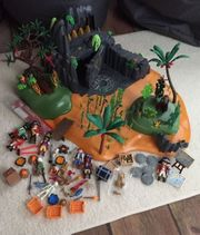 Große Playmobil Piratenschatzinsel mit Licht-