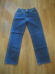 Jeanshose ANGELS STRAIGHT Jeans dunkelbau