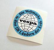 Vespa Weltmarke Aufkleber V50 VBA