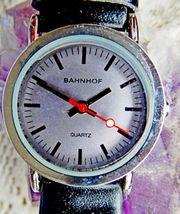 Zu Weihnachten Neue Damen-Armbanduhr Bahnhof-Uhr-Design