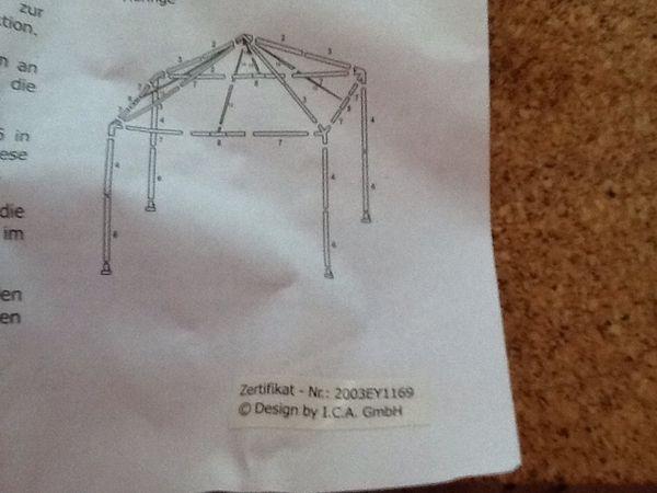 Gartenpavilon 3-3 Party Zelt 3-3
