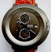 Neuer Marken-Chronograph mit Datumanzeige Leder-Armband