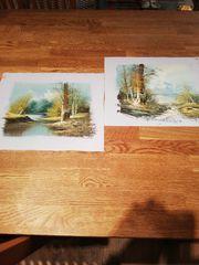 2 Bilder Ölbilder Gemälde Kunst