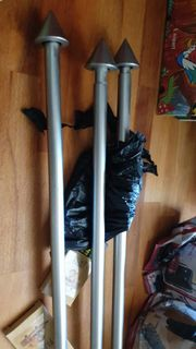 3 Gardinenstangen gebürstetes Edelstahl 130-250cm