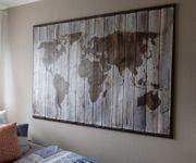 Wandweltkarte eingeramt Rahmen ist ein