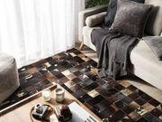 Teppich Leder braun 140 x