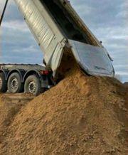 Lieferung Aushub Erdaushub Sand Auffüllmaterial