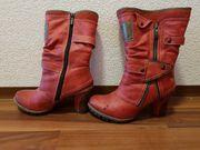 Damen Schuhe Mustang Stiefel warm
