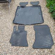 Original Mercedes Gummi - Fußmatten und Kofferraum