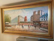 Burnett Ölgemälde Paris Moulin Rouge