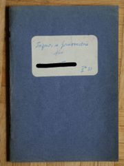 Schulheft original 1950 Mathematik Trigono-