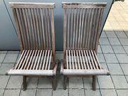 2x TEAK Gartenstühle