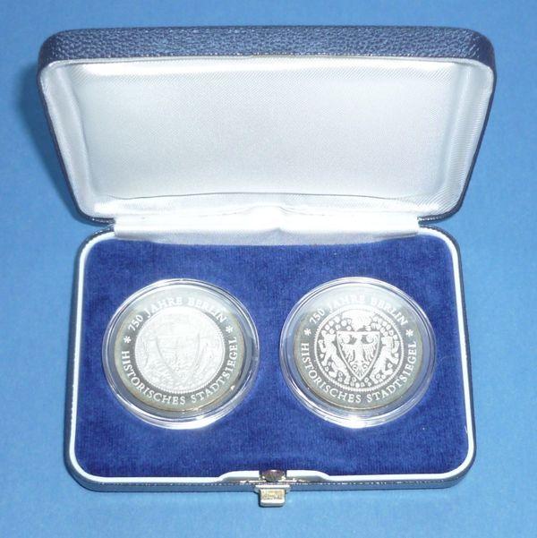 2 Gedenkmünzen Ddr 20 Mark 1987 750 Jahre Berlin Stadtsiegel Pp