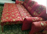 Sofa in Rot dreiteilig