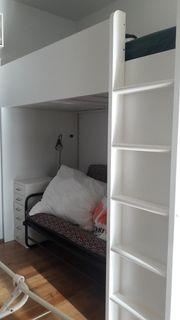 Hochbett STUVA MALAD Schreibtisch Kleiderschrank