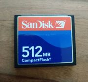 Neue Speicherkarte 512MB CompactFlash