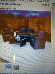 Loungemöbel schwarz-grau 2 Sessel und