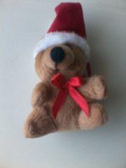 Stofftier - Plüschbär - Weihnachtsbär - braun - Markenlos -