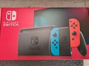 Nintendo Switch OVP Neon Blau