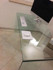Designer Glas Schreibtisch