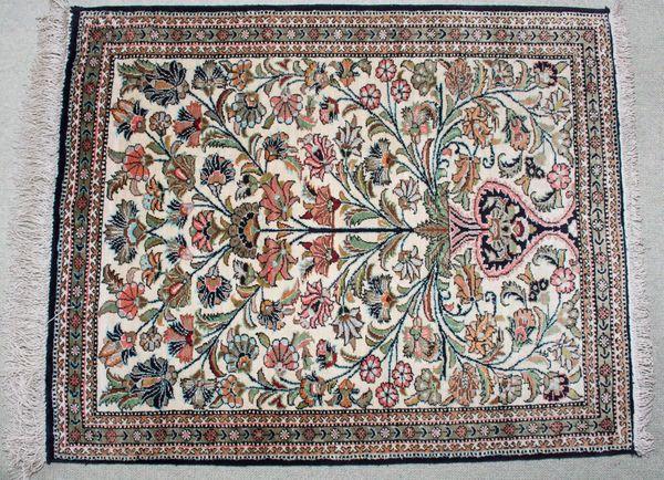 Seidenteppich - Teppich Wandteppich 82x 64