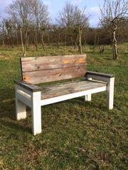 Gartenbank 2-3-Sitzer Shabby Chic - Massivholz