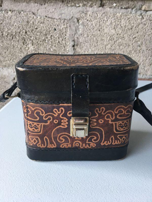 Handtasche Leder - Stutensee Büchig - sehr außergewöhnliche Umhängetasche aus Leder, Design aus Mittel/Südamerika - Stutensee Büchig