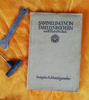 1926 antiquarisch Sammlung von Tabellenbüchern
