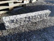 Granit Randsteine handgeschlagene Kanten neu