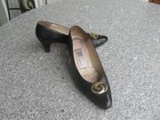 Retro Pumps Lackleder schwarz Gr