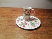 5 Teetasse mit Dessertteller